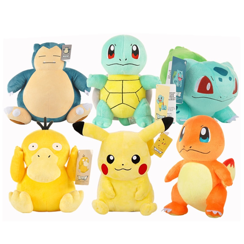 Фигурки покемона, плюшевые игрушки, 20 см, кавайная Пикачу, Дженни, черепаха, Мультяшные животные, аниме, мягкие плюшевые игрушки, кукла, детск...