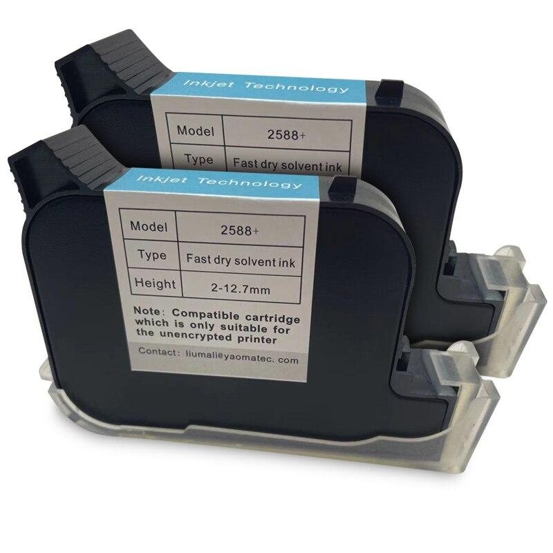 Cartucho de Tinta de Secagem Rápida para Nenhuma Impressora a Jato de Tinta 2588 + Frete Pces Grátis Eco Solvente Água Baseado Handheld Criptografada 2 2588 12.7mm