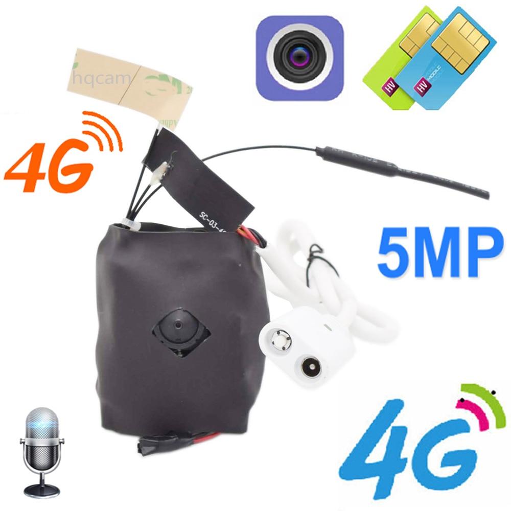 5MP Sony IMX335 1920P inalámbrica MINI 4G agujero Cámara en MIC ranura para tarjeta Micro SD 3G 4G SIM Cámara módulo para industria camhi