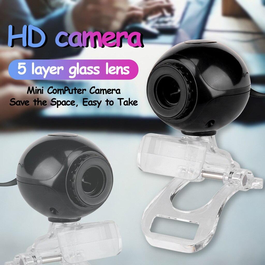 Cámara Web USB con micrófono visión nocturna Webcam para PC Laptop clase 360 grados dropshipping