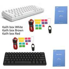 60% Teclado mecánico Bluetooth 4,0 tipo C RGB 61 teclas Kailh caja interruptor
