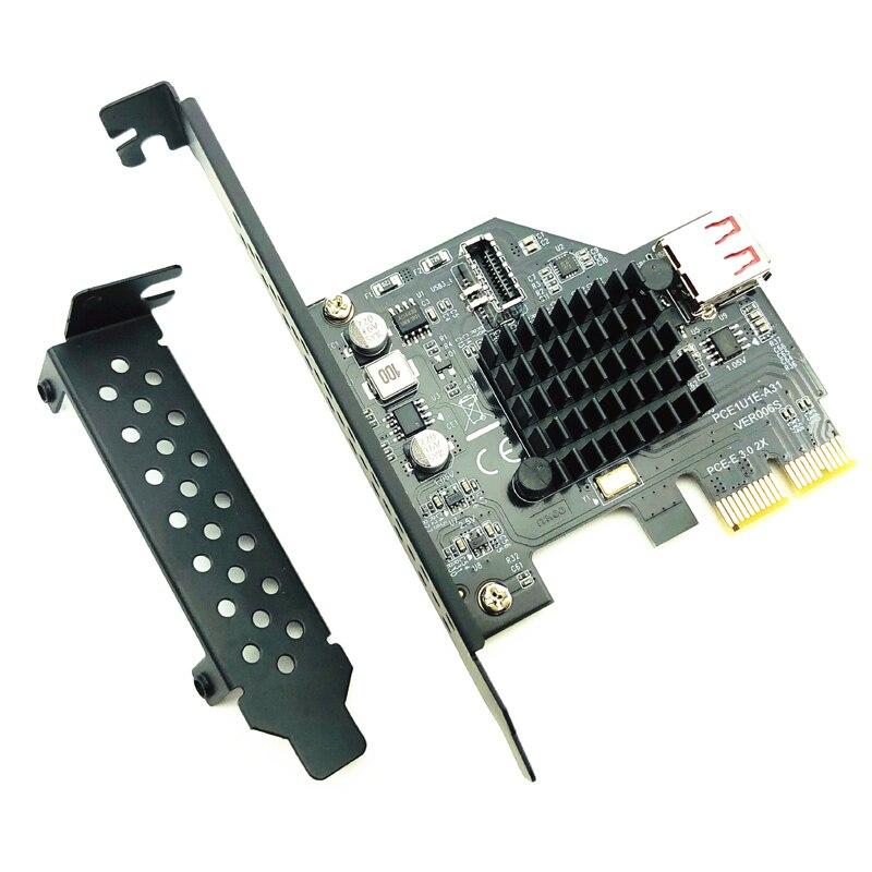 H1111Z Add On Cartões PCI Express 3.0 portas USB 3.1 PCI-E PLACA Pcie Adaptador USB Raiser TYPE-E USB3.1 Gen2 10 5gbps + Placa de Expansão USB2.0