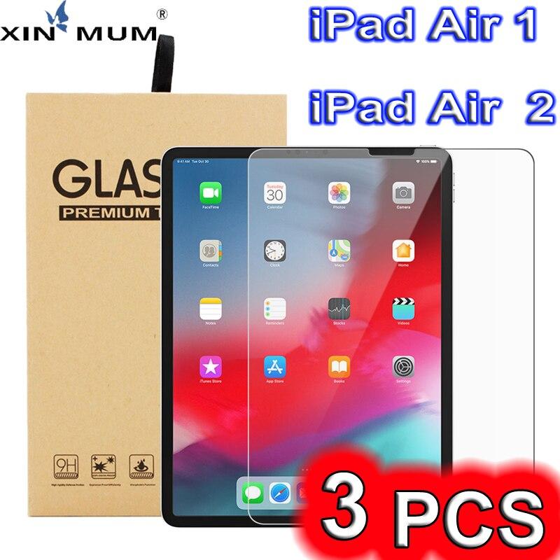 3 Teile/satz Für iPad Air 2 1 Transparent Screen Protector Anti fingerprint Anti-öl Anti-Scratch Tablet HD gehärtetem Glas Film