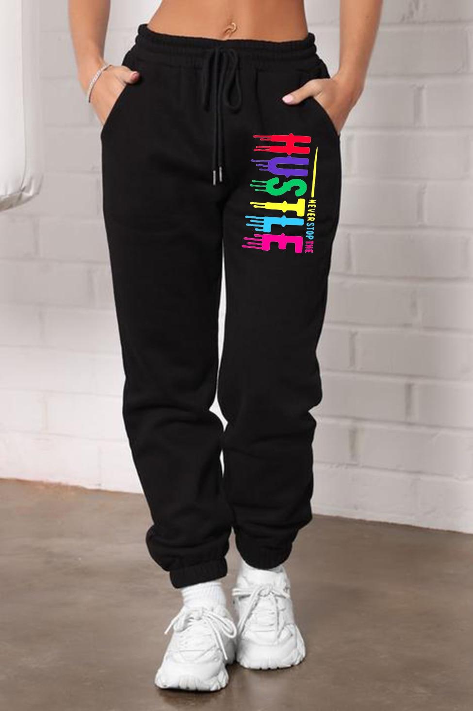 Спортивные брюки для женщин, Новинка осени 2021, мешковатые модные спортивные брюки, черные брюки, женские джоггеры, уличная одежда, женские б...