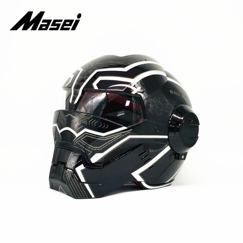 Masei IRONMAN helmet motorcycle helmet half helmet open face helmet casque motocross car accessories sticker casco moto