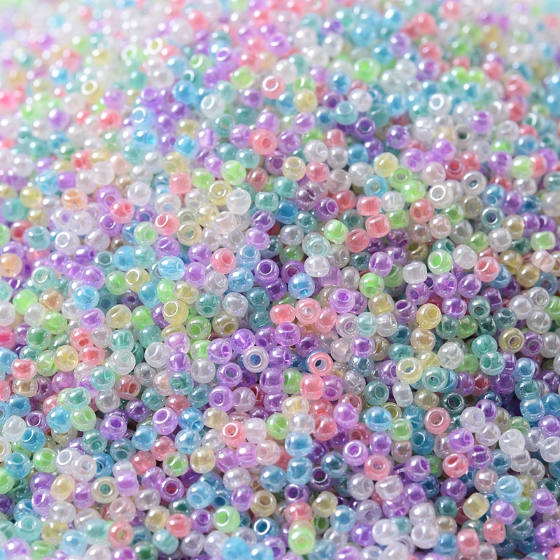 720pcs lot 2mm austria opaque round hole glass bead solid color czech glass seed spacer diy beads for kids jewelry making decor 20g/Lot Mixed Czech Glass Seed Beads 2mm Charm Small Crystal Spacer Beads For DIY Jewelry Making Bracelet Necklace Accessories