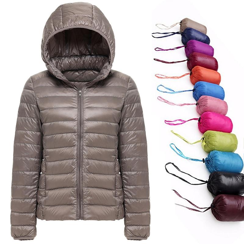 2019 New Brand 90% White Duck Down Jacket Women Autumn Winter Warm Coat Lady Ultralight Duck Down Ja