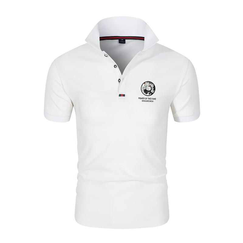Polo de hombre de moda europea y americana con transferencia térmica de tenis, Camiseta reservada Masculina de manga corta de algodón, polo s para hombre