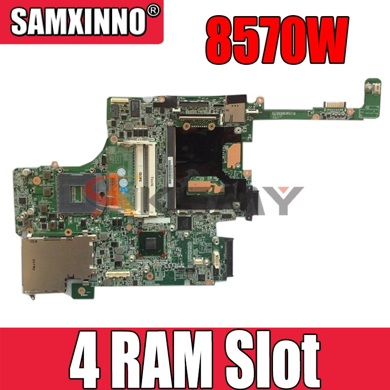 AKemy محمول لوحة رئيسية لأجهزة HP بي Elitebook 8570W 4 RAM فتحة النواة SLJ8A اللوحة 690643-501 695956-001 010176600 DDR3