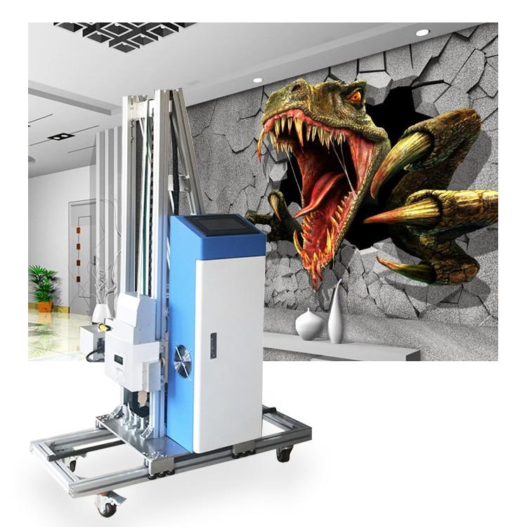 УФ настенная печатная машина 3D вертикальный настенный принтер/3D фоновая Роспись стен цифровой лак струйный принтер