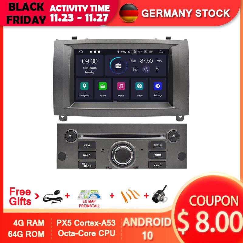 AVGOTOP Android 10 Auto Multimedia für PEUGEOT 407 Wifi GPS MP3 MP4 Fahrzeug Radio Navigation System