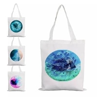 wood resin art summer bags shopping for groceries bag white canvas fabric aesthetic boutique custom jute burlap reusable textile