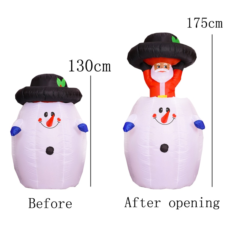 Giant Inflatable Santa Claus Snowman Christmas Decorations for Home Inflatable Toys Outdoor Yard Garden Decor Merry Christmas enlarge