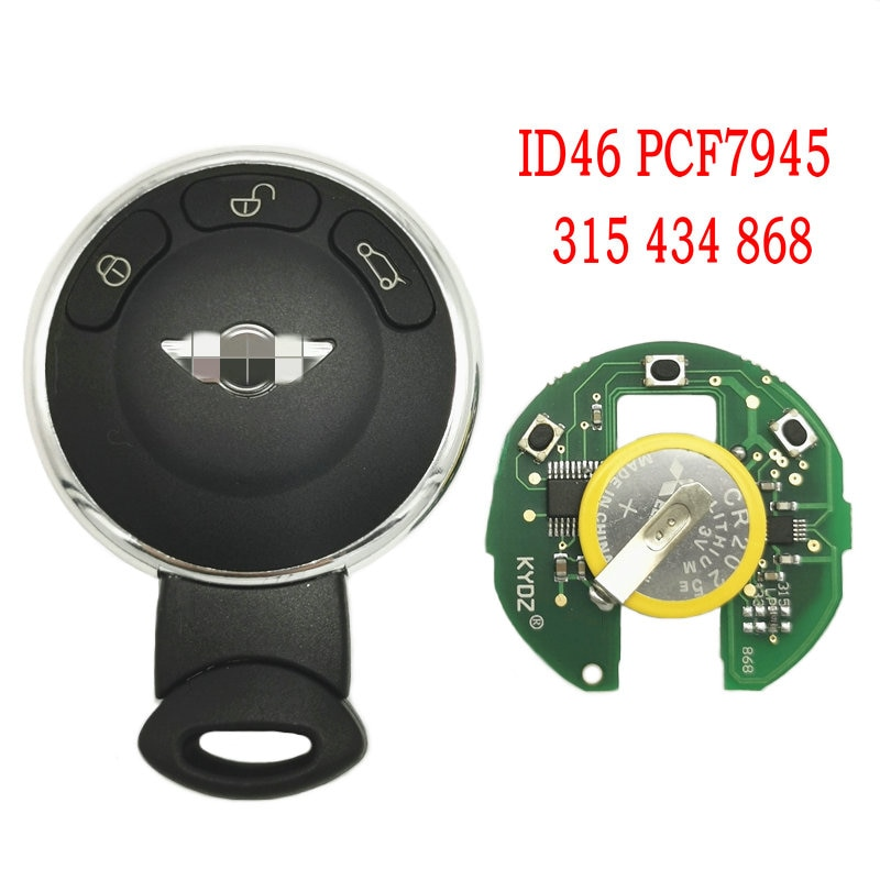 Datong World Car Remote Control Key For BMW Mini Cooper 315 434 868 CAS System PCF7945 Chip IYZKEYR5602 Auto Smart Card Key