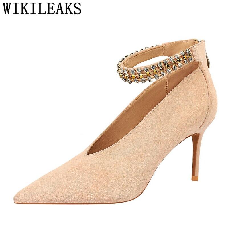 Zapatos Mary Jane De tacón con diamantes De imitación para mujer, Zapatos...