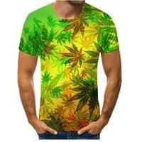 yellow maple leaf print t shirt menwomen summer o neck t shirt quick drying menwomen 3d t shirt tops fashion