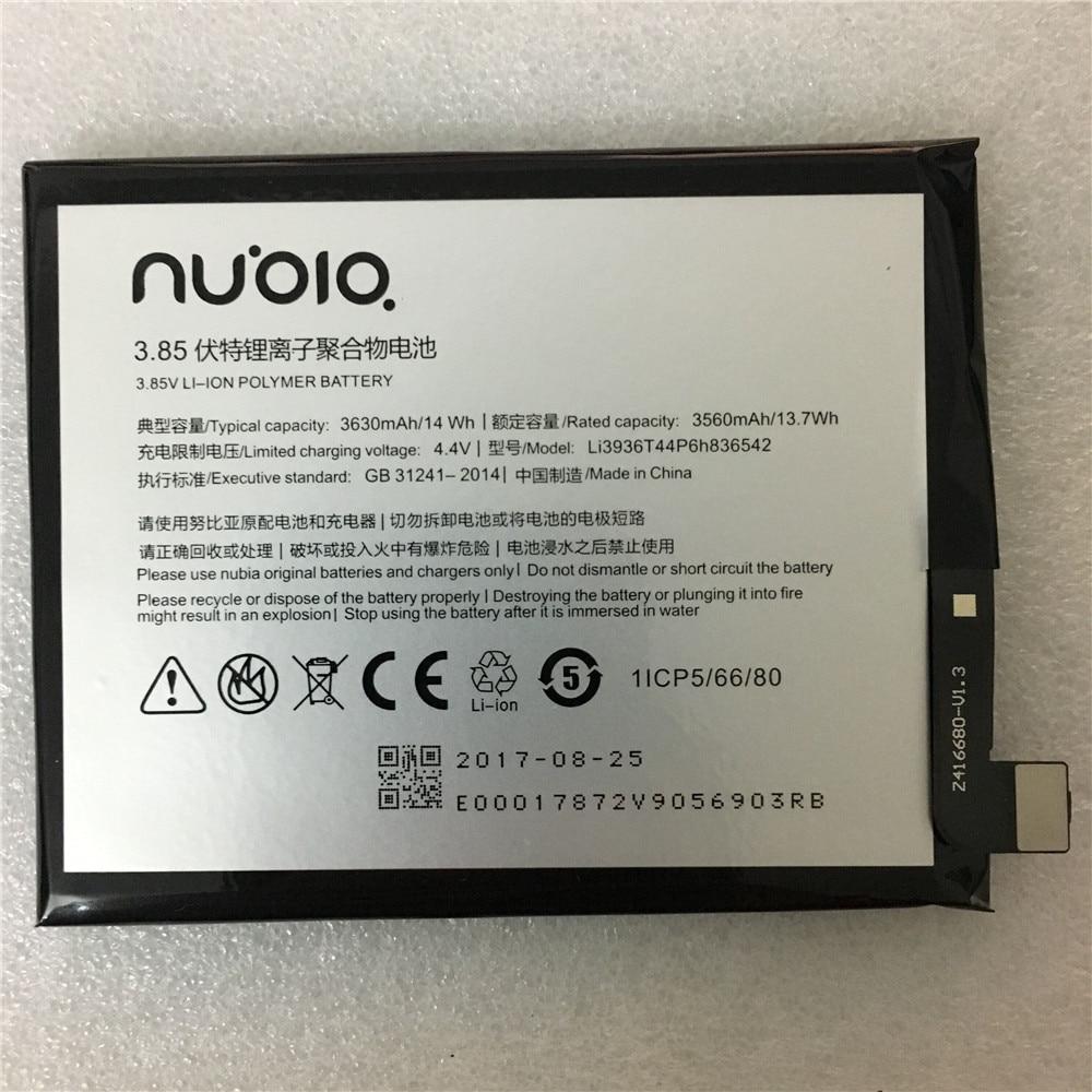 Original Li3936T44P6h836542 3630mAh Battery For ZTE/Nubia Nubia M2, Nubia M2 Dual SIM, Nubia M2 Dual SIM TD-LTE, NX551J Battery
