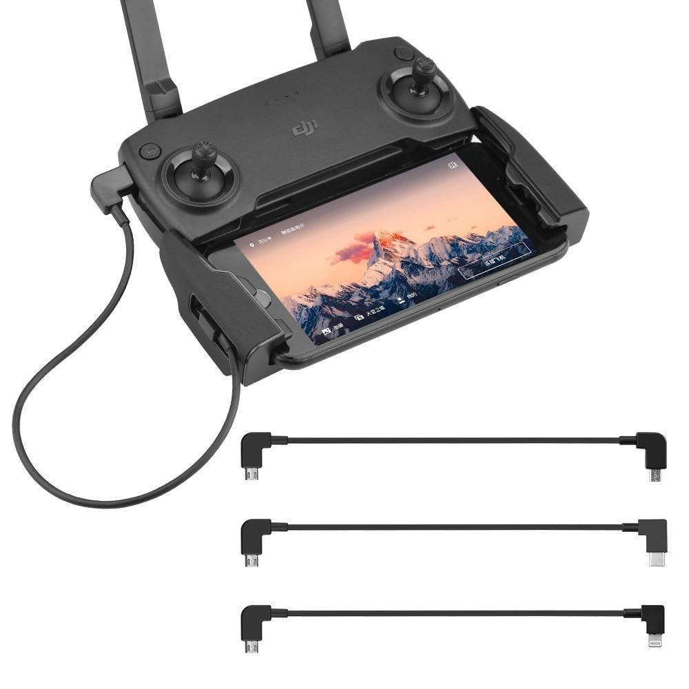 Adaptador de cabo de dados otg para tablet, 30cm, para dji spark mavic pro air 2/2s zoom mini hubsan zino tipo-c, conector micro-usb para drones