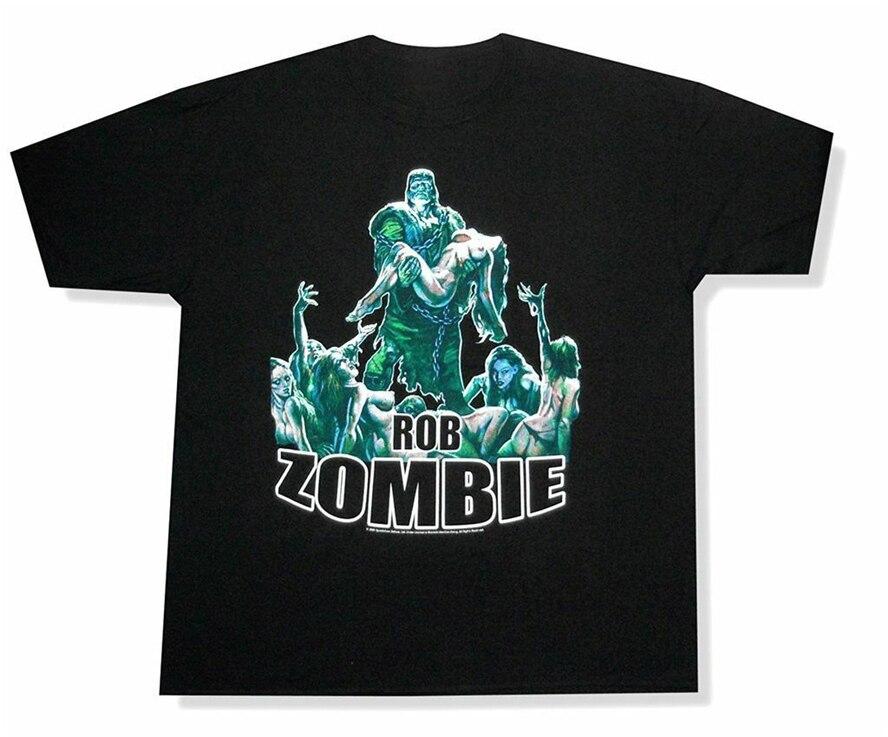 Rob Zombie Frankenstein cadáver maldita mezcladora de amor triste negro T camisa nueva Homme Plus tamaño camiseta