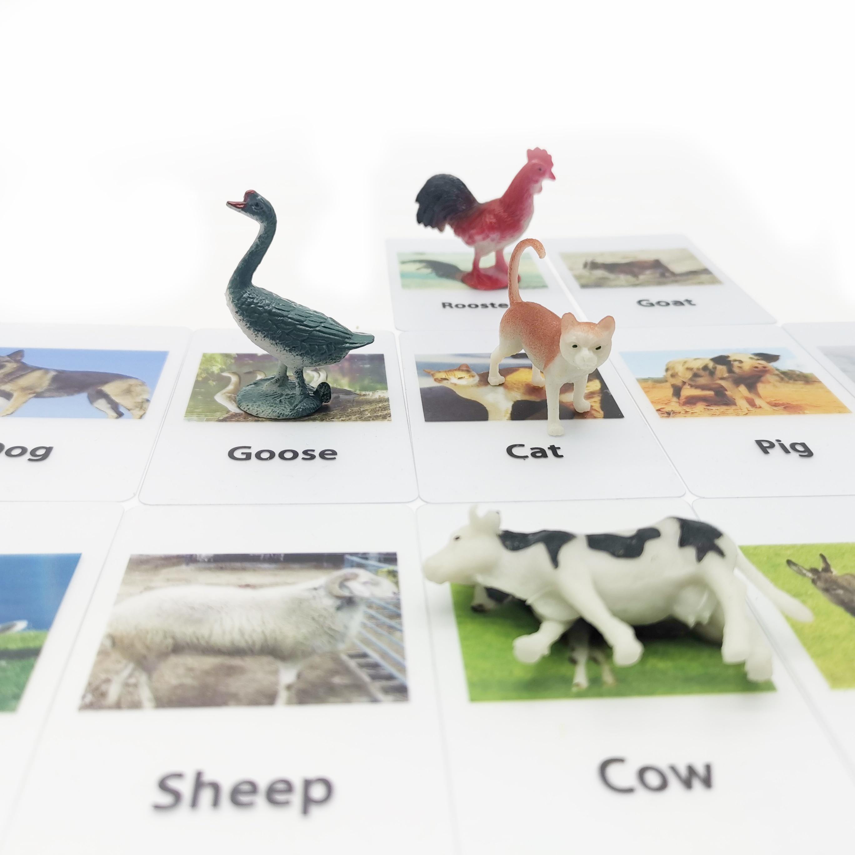 Обучающие материалы Монтессори, игрушки, карты и фигурки животных, обучающие материалы для игры на английском языке, игрушки