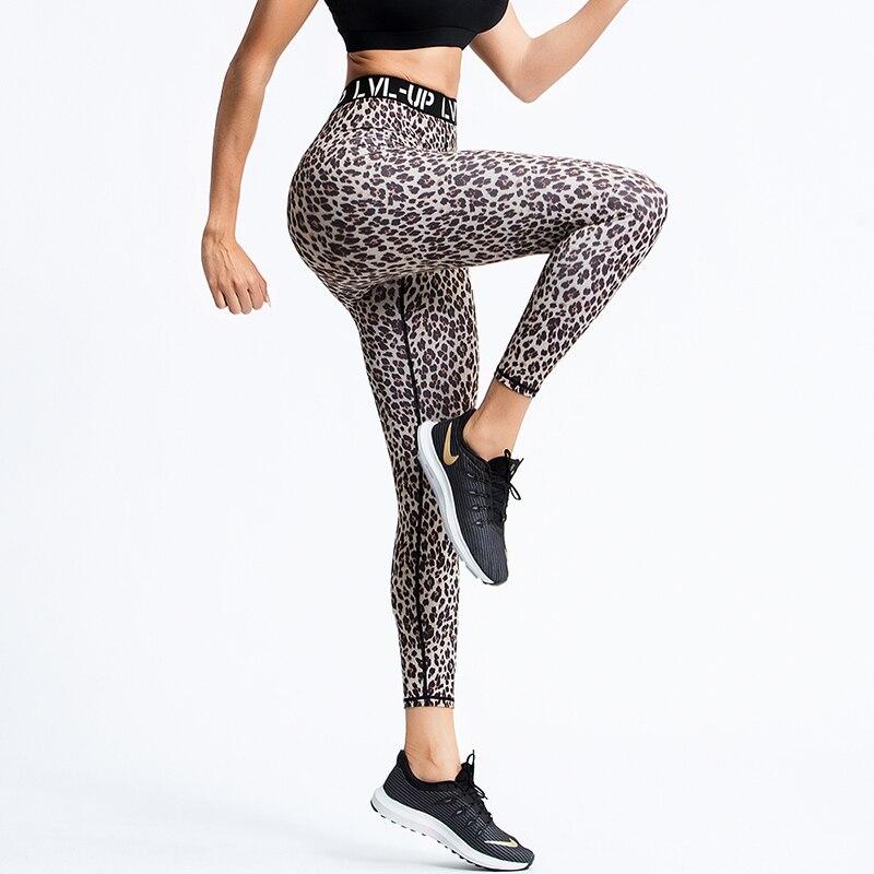 Mulheres do Esporte de Fitness sem Costura Leggings para Calças Leggings Esportivas Mulheres Ginásio Legging Cintura Alta Yoga Calças Leopardo Wear