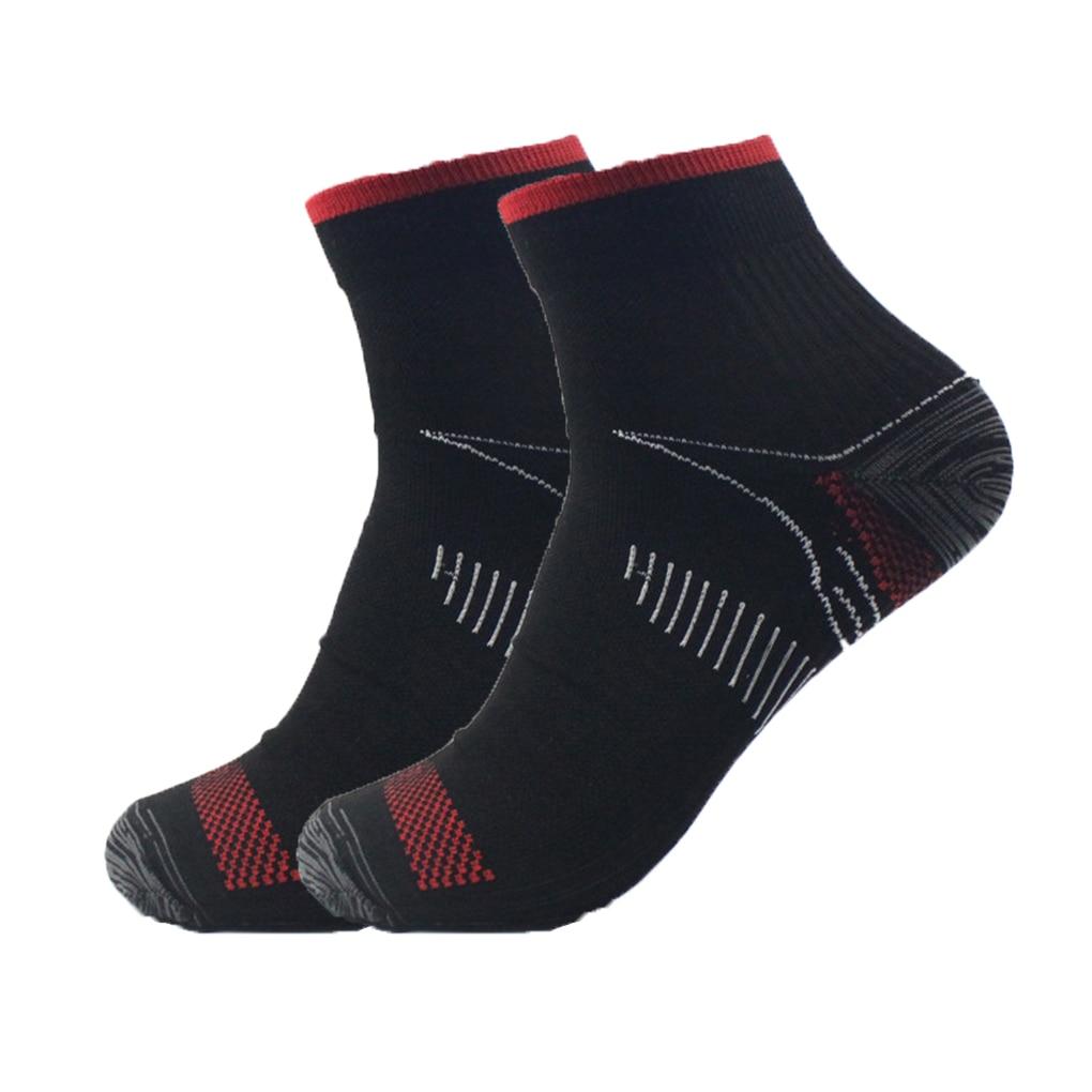 1 Pair Unisex Foot Compression Socks Anti-Fatigue Plantar Fasciitis Heel Spurs Pain Knit Socks