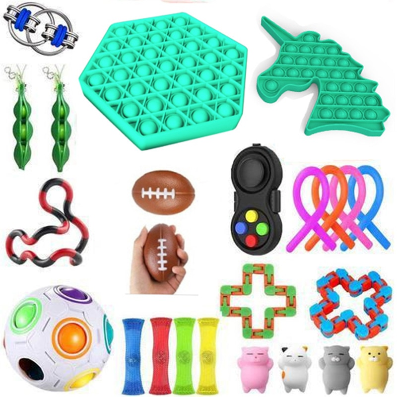 Fidget Toys 21/23PCS Anti Stress Toy Set Sensory Antistress Relief Gift Autism Anxiety Anti Stress Bubble for Kids Adults enlarge