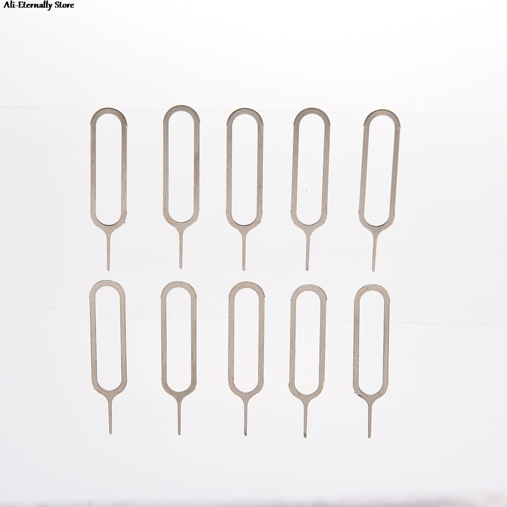 10pcs SIM Card Tray Removal Eject Pin Universal Sim Card Tray Pin Remover Eject Pin Needle Phone Too