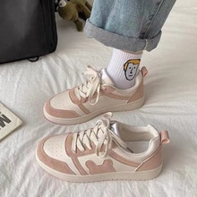 Bear Patchwork Canvas Sneakers 2021 Fashion Casual Zapatillas Mujer Pink Summer Lolita Shoes Kawaii