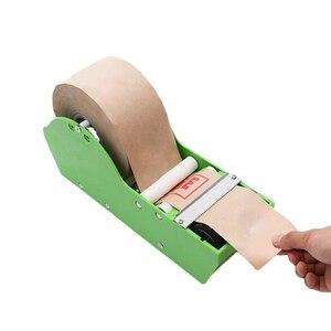 Water Activated Gummed Kraft Paper Tape Packaging Dispenser Green Kraft Paper Tape Cutter Carton Sealing Office Supplies