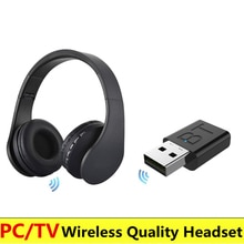 Casque TV sans fil avec adaptateur sur loreille casque Bluetooth casque pliable écouteur réglable avec micro pour TV téléphone portable PC