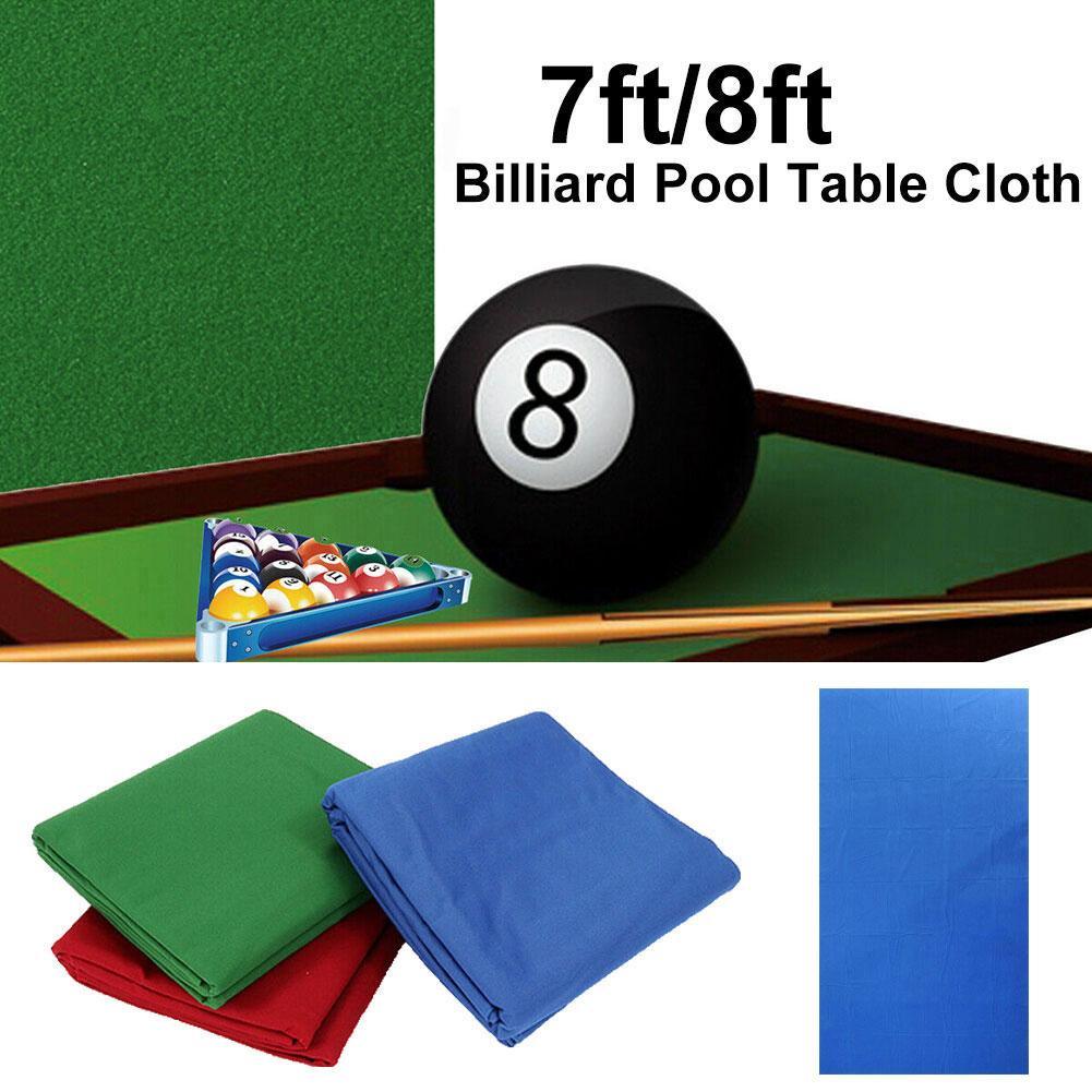 Profesional verde/azul/Rojo/cian verde Snooker tela de billar mantel tapete reemplazo de fieltro cubierta para 7/8 pies