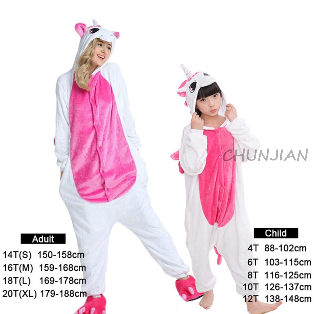 Conjuntos de ropa familiar, pijamas de franela de unicornio para niños y mamás, mantas, pijamas Unisex para hombres y mujeres, conjuntos de ropa