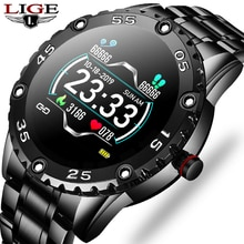 LIGE Men Smart Watch Heart Rate Monitoring Smartwatch Waterproof Fitness Tracker Pedometer Sport Sma