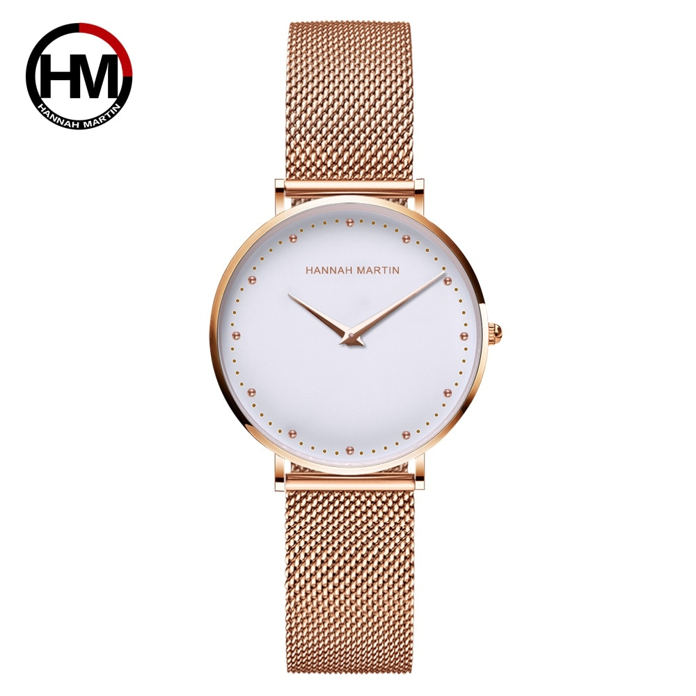 Anke Store  Women Watches New Top Brand Luxury Fashion Japan Quartz Movement  Rose Gold Waterproof Original Design Wrist watches