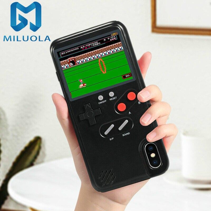 Pantalla a todo Color 36 funda de teléfono de juego clásico para 11 Pro X XS Max XR 6S 6 7 8 Plus Gameboy cubierta para P20 Sumsung S10 funda