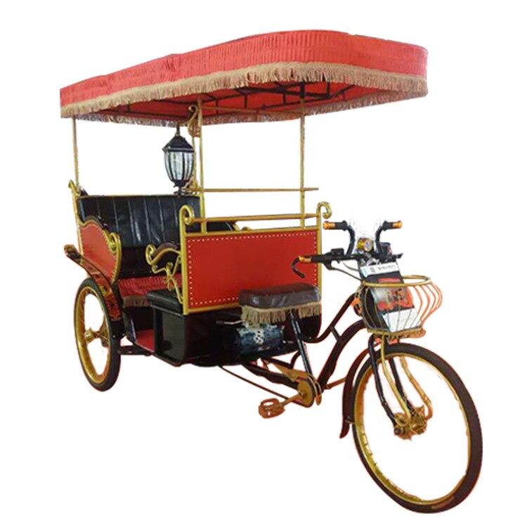 Bicitaxi eléctrico de tres ruedas triciclos motorizados