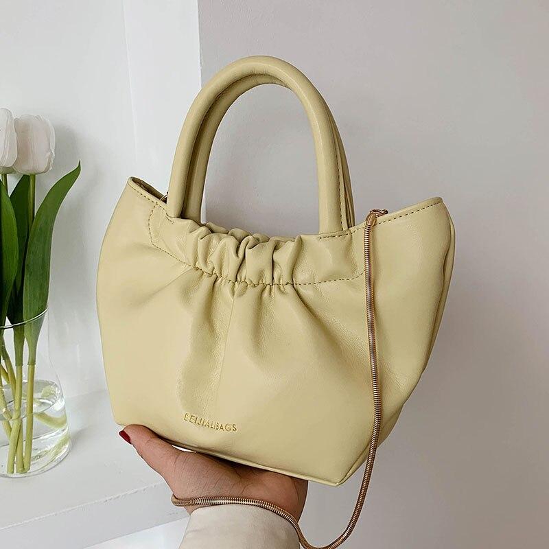 Elegant Female Solid color Underarm bag 2021 Fashion High-quality PU Leather Women's Designer Handbag Luxury brand Shoulder Bags