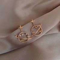 2021 new arrival crystal trendy women dangle earrings simple fashion elegant pearl earring female temperament jewelry