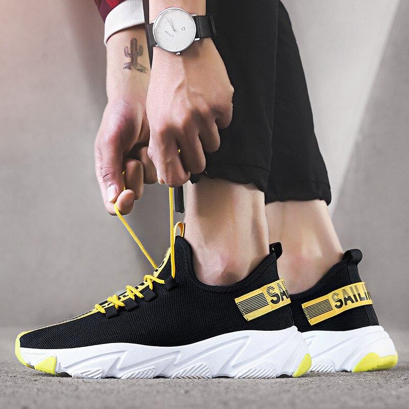 Zapatillas de deporte baratas para hombre, viaje Harajuku 2020 Primavera, nuevos zapatos flexibles para correr para hombre, tendencia, zapatillas de ocio ligeras y versátiles