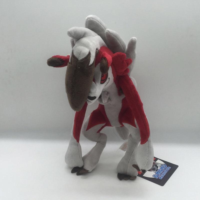 """11 """"28CM Lycanroc medianoche muñeco de Anime coleccionables muñecos de peluche animales de peluche mejor regalos de peluche de juguete"""