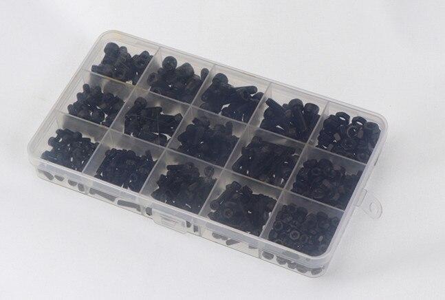 Tornillos de cabeza hexagonal de grado 500, negro, M3, M4, M5, Kit...