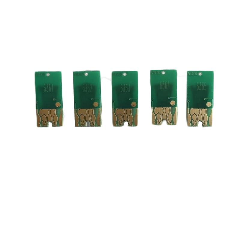 Cissplaza 700ml t6361 T6361-T6364 t6368 cartucho de tinta recarregável ciss chip para epson stylus pro 7700 9700 7710 9710 impressora