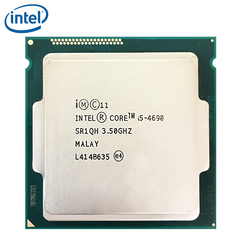 جهاز كمبيوتر شخصي إنتل كور i5-4690 i5 4690 معالج 3.5GHz رباعي النواة LGA 1150 سطح المكتب وحدة المعالجة المركزية 100% يعمل بشكل صحيح سطح المكتب