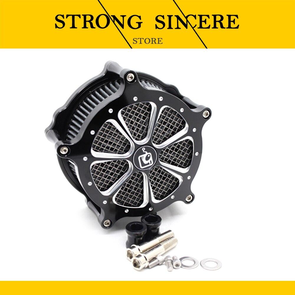 دراجة نارية أسود الانجراف الهواء منظف المرشّح عدة ل Harley XL883 XL1200X48 04-21 وسيطة دوران فلتر الهواء فلتر
