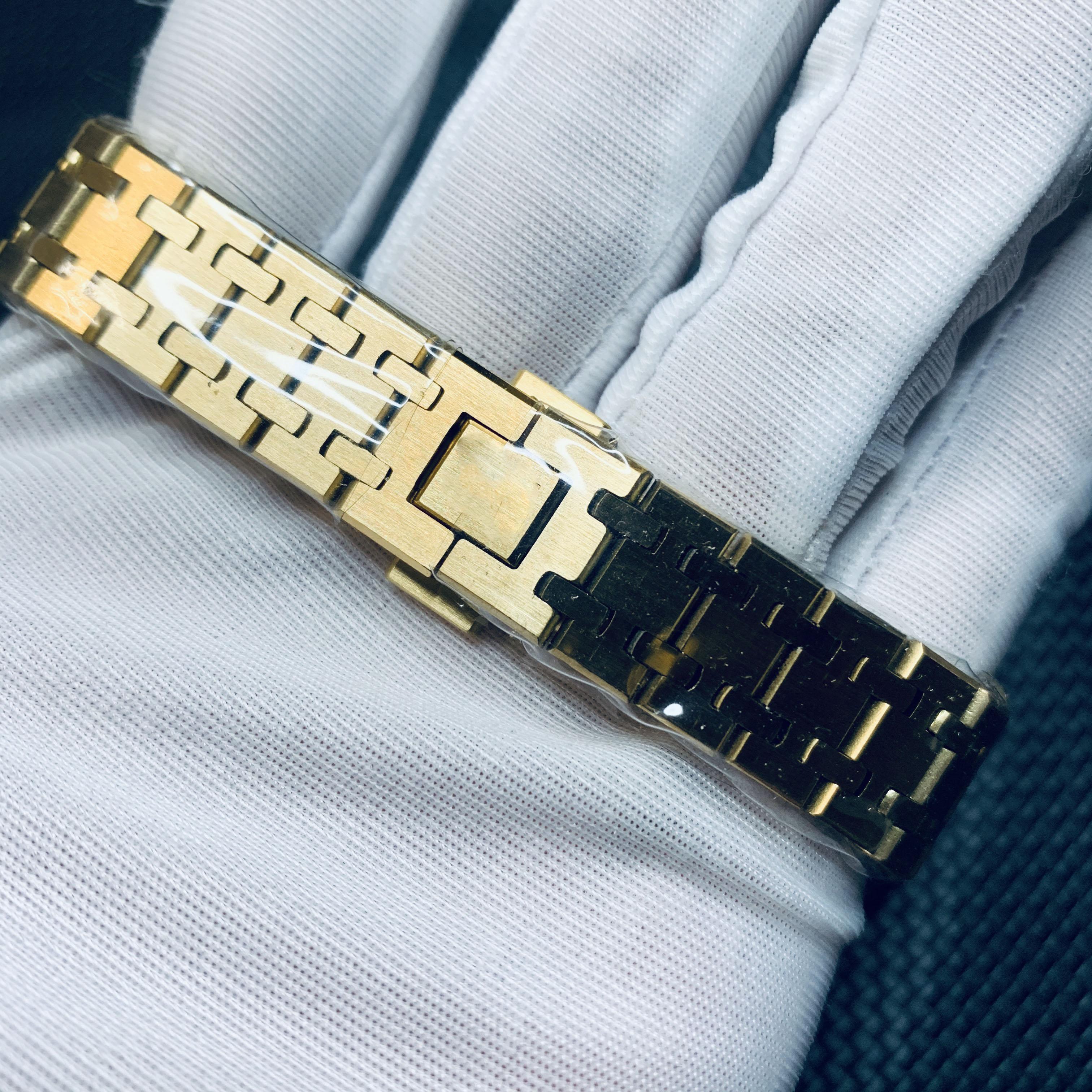 High quality ladies 18K gold quartz watch 33mm luminous top stainless steel Ro—yal Oak ladies watch enlarge
