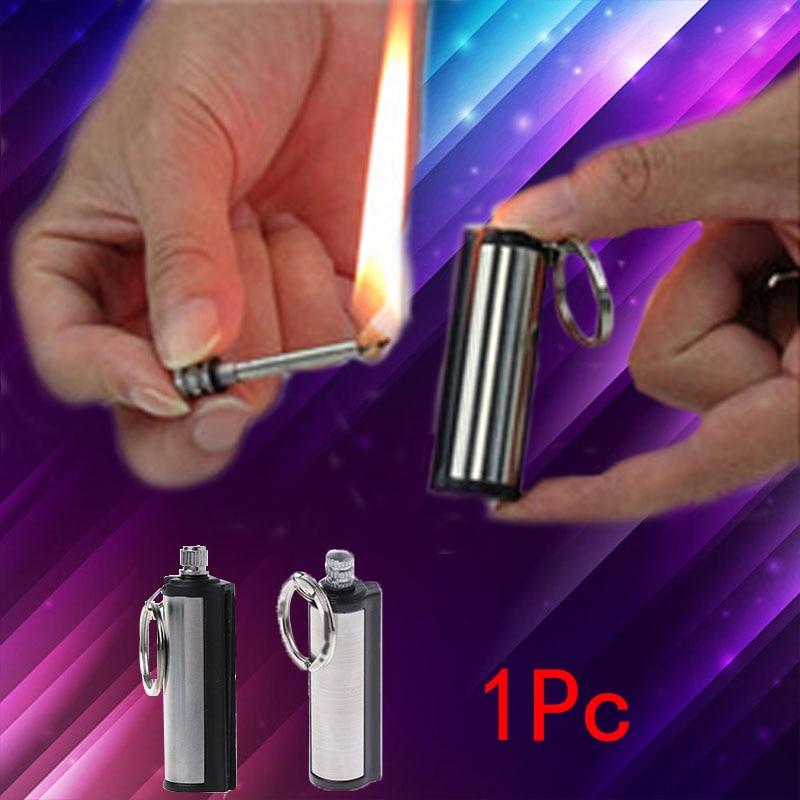 Fashion Permanent Striker Lighter Match Silver Metal Key Chain   Jones-03/Jones store sale