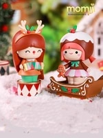 mystery box pop mart specific figure character momiji christmas opened blind box kawaii toy home accessories girl gift