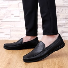 Men Casual Flat Shoes Hollow Mesh Soft Sole Loafers Shoes Mens Fashion Formal Business Driving Boat