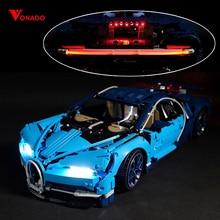Ha condotto la Luce Compatibile Per Lego 42083 Bugatti Chiron technic 20086 Auto da corsa Blocchi di Costruzione Giocattoli Regali (solo la luce Della Batteria box)